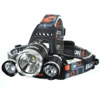 PAKET Headlamp Cree Senter Kepala/senter camping +kabel usb