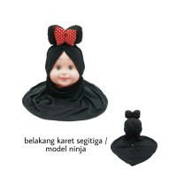 Jilbab abak bayi Mickey bow hijab balita 1-5 th kerudung anak khimar