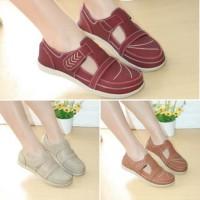 Sepatu Wanita Flatshoes Kulit Mulan 2102