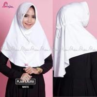 Jilbab anak sekolah jilbab putih polos ukuran L jilbab miulan