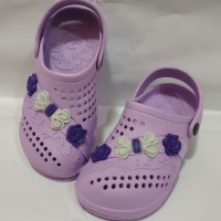 Sepatu Sandal Karet S31-36 Dulux Motif Bunga | Sandal Cantik