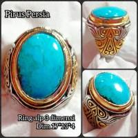cincin batu akik permata pirus Persia 04