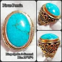 cincin batu akik permata pirus Persia 02