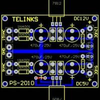 pcb simetris power suply ic 78xx 79xx