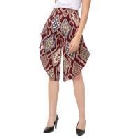 MOSIRU Celana Kulot Batik Wanita Katun Stretch Termurah 30100001