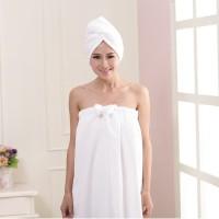 Set Handuk Kemben Pita WEARABLE TOWEL DRESS, Handuk Keramas TOWEL CAP