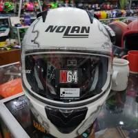 HELM NOLAN N64 MOTIF CARLOS CHECA WHITE DOFF N-64