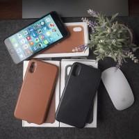 APPLE IPhone X Leather Case SADDLE BROWN Original OEM