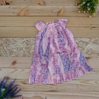 New Dress Piyama Anak Baju Tidur Perempuan Satin Import - Size 9, Ungu