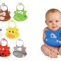 Babies First Silicon Baby BIB / Celemek Bayi Bahan Karet