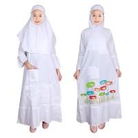 Baju Gamis Anak Putih Fayrany FGP-011 size 1 - 5