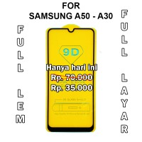 Tempered glass 5D Samsung A50 - A30 - A10 anti gores screen guard full