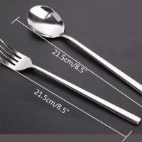 Sendok Garpu Korea / Alat Makan Sujeo Korean Spoon Fork Set Stainless