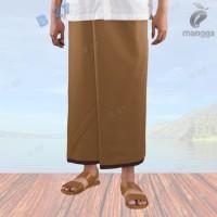 Coklat Tua M35-21 Sarung Tenun Mangga Warna Polos Original