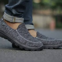 sepatu sport slipon casual skechers go walk 4 running sneakers pria