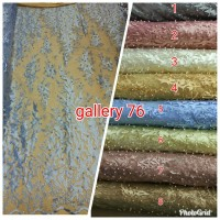 Kain tile payet with pearl/Kain bahan kebaya,blouse,dress/Brokat