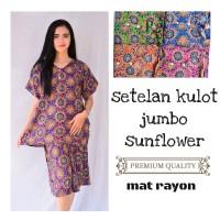 Setelan kulot jumbo batik sunflower