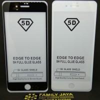 Tempered Glass 5D 9D Full Lem iPhone 7 - Putih
