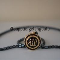 PROMO Kalung Ginsamyong Lafaz ALLAH SILVER Muslim Gold magnet KOREA