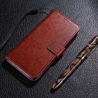 Xiaomi Mi Note Bambu flip cover kulit leather dompet kartu kancing