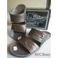 Sandal Pria Slide Kulit Asli Premium