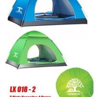 Tenda Camping Outdoor Pantai Dewasa Otomatis 3-4 Orang Waterproof