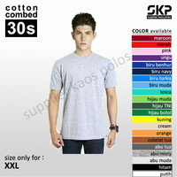 Kaos Polos Size XXL Oblong Pendek Soft Combed 30s
