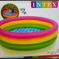 Kolam renang karet anak besar model Pelangi merek INTEX/kolam anak