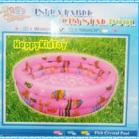 Kolam renang karet anak ikan 90cm bulat/Kolam anak/mainan anak