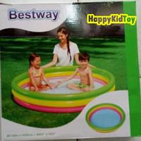 Kolam renang karet anak Pelangi merek BESTWAY/kolam anak/kolam lipat