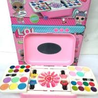 Mainan Anak Perempuan makeup LOL fashion and Nail art koper