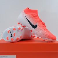 Sepatu Bola Nike Superfly 6 Academy FG/MG Crimson White AH7362-801 Ori