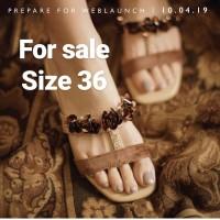 valencya by enrica Zelda Block heels in choco beige size 36