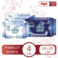 [Nina Anion Bundle] Woman Sanitary Bundle 24cm (3pcs) + 33cm (1pcs)
