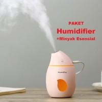 Humidifier Diffuser Aromaterapi Pengharum Ruang +Lampu Tidur LED Malam