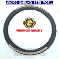 COVER STIR MOBIL SARUNG STIR KULIT UK S 36CM BLACK CREAM MORRIS MR772