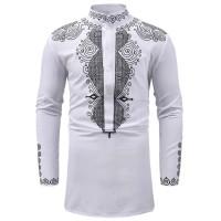 [koko jonas white OT] baju koko pria katun stretch putih kombi bordir