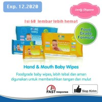 PUREBABY PURE BABY HAND & AND MOUTH BABY WIPES 60 TISSUE TISU BASAH