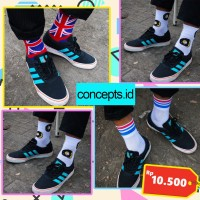 Kaos kaki skate pendek kaos kaki motif kaos kaki england donat
