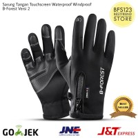Sarung Tangan Motor Touchscreen Waterproof Resleting B-Forest Versi 2