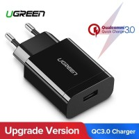 Ugreen Charger 18W Qualcomm Certified QuickCharge 3.0-BLACK (60201)