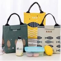 Lunch bag Tas Bekal Cooler Bag Motif Ikan - Kuning
