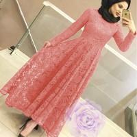 MAXI YUNI BRUKAT SALEM [Hijab 0121] SDO Baju Gamis Wanita Terbaru