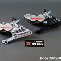 Breket Kaliper Depan WR3 Brembo 4P1P Honda CBR250RR ABS