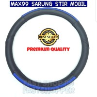 COVER STIR MOBIL SARUNG KULIT STIR SIZE S 36CM BLACK BLUE MORRIS MR772