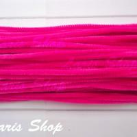 Kawat Bulu Mercy Beludru / Pipe Cleaner Mainan Edukasi Anak Pink Fanta
