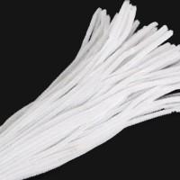 Kawat Bulu Mercy Beludru / Pipe Cleaner Mainan Edukasi Anak Putih