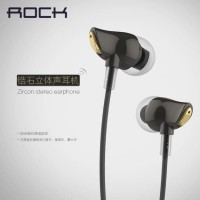 100% Original ROCK Zircon Stereo Earphone with Mic Headset Handsfree