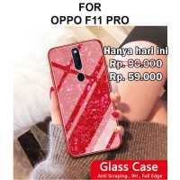 Case Oppo F11 Pro softcase casing back cover glass kaca TEMPERED SHELL