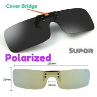 Clip on sunglasses Kacamata Hitam klip on anti RADIASI UV dan Polarize